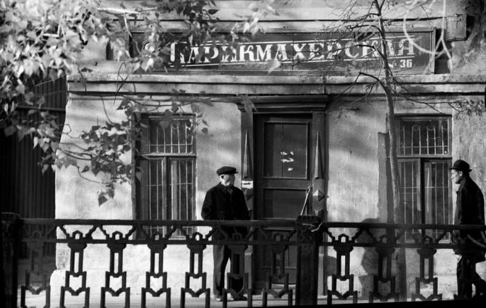 Парикмахерская на окраине города. СССР, Казань, 1973 год.