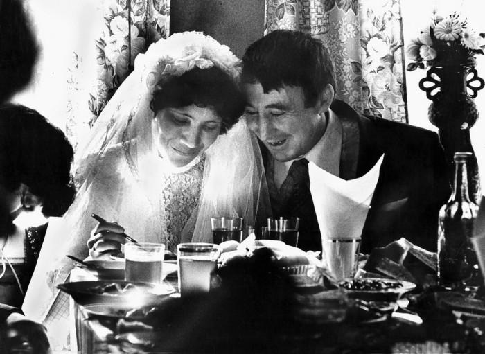 Свадебная фотография. СССР, Тат Суук-су, 1987 год.