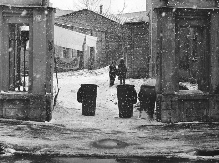 Арбатский переулок. СССР, Москва, 1960-е годы.