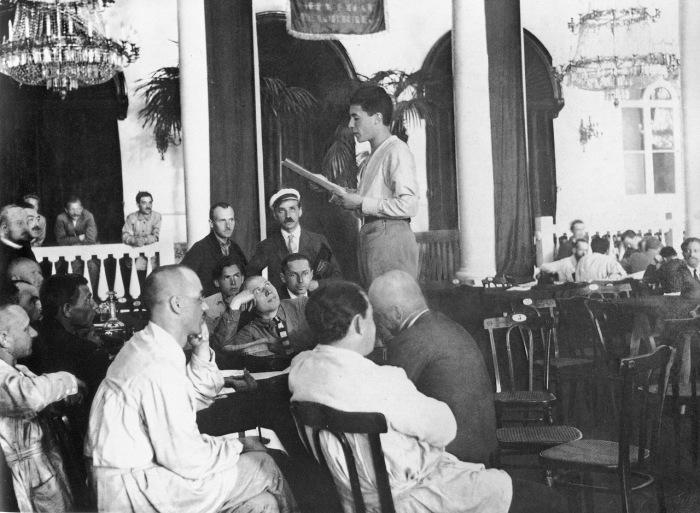 Заседание Красного интернационала профсоюзов. Москва, 1924 год.