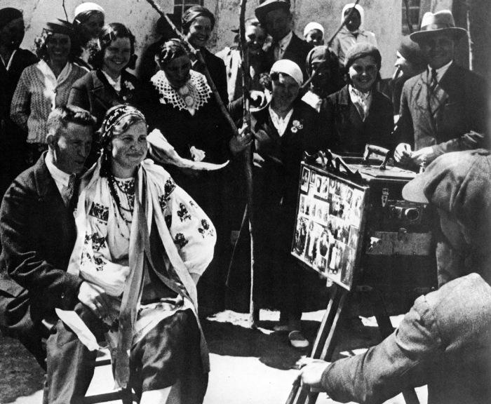 Деревенская свадьба. СССР, Московская область, 1938 год.