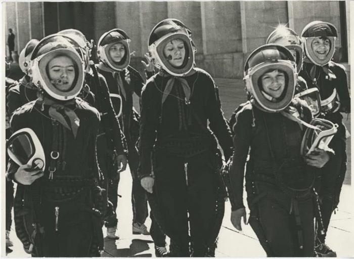 Будущие космонавты. СССР, 1965 год. Автор фотографии: Лагранж Владимир Руфинович.