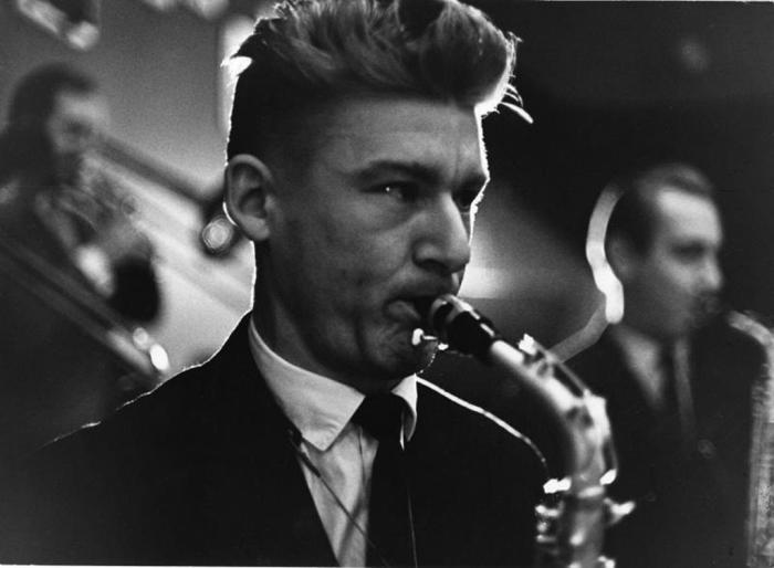 Джазовый саксофонист. СССР, 1969 год. Автор фотографии: Тарасевич Всеволод Сергеевич.