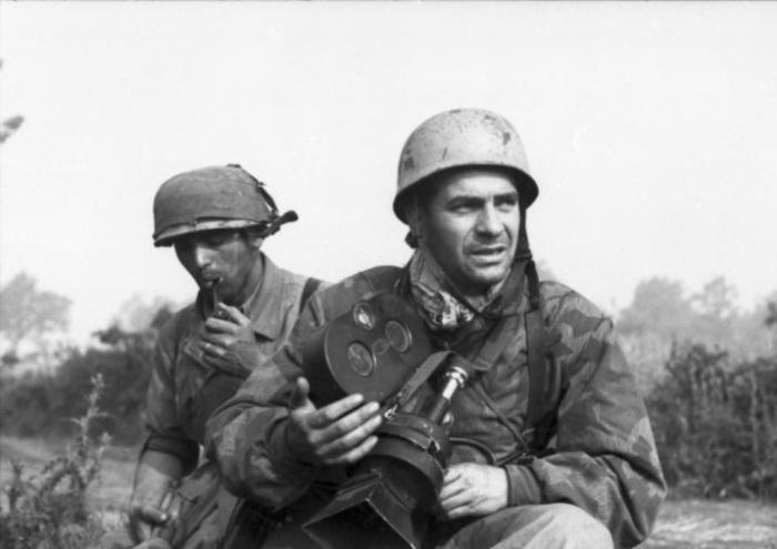 Участки группы «боевой» пропаганды, которые участвовали в акции, приуроченной к очередному немецкому наступлению.