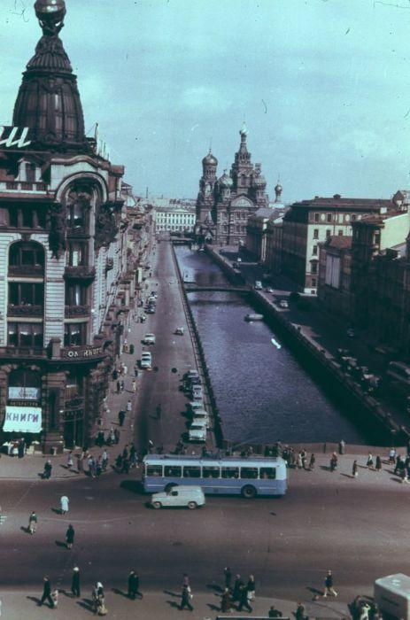 Канал Грибоедова, расположенный в самом центре Ленинграда.