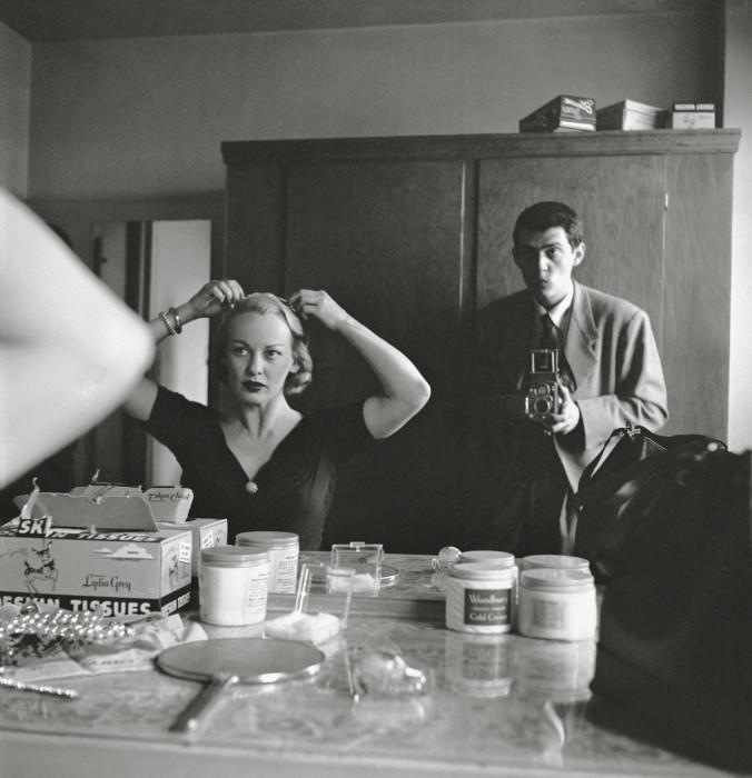 Стэнли Кубрик с киноактрисой и телеведущей Фэй Эмерсон в 1950 году.