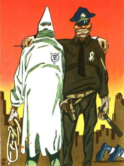 Карикатура, которая олицетворяет Великое братство чёрных и белых по-американски.