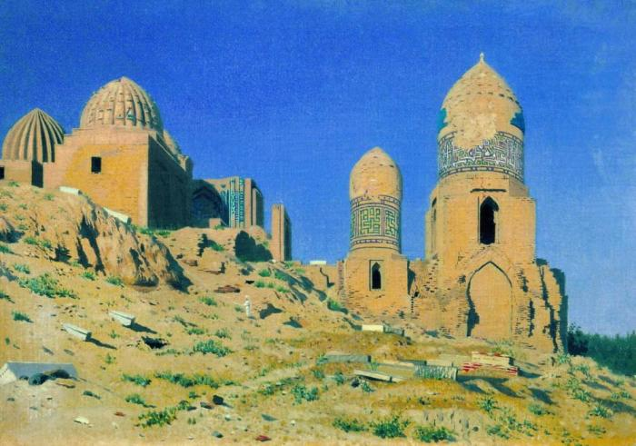 Памятник средневековой архитектуры в Самарканде.