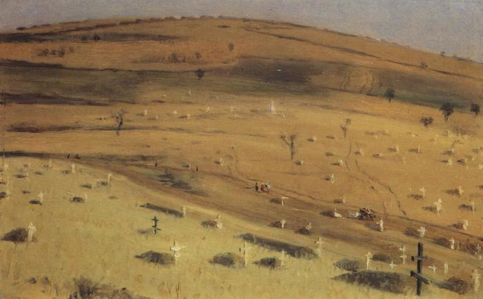 Могилы на месте сражения.