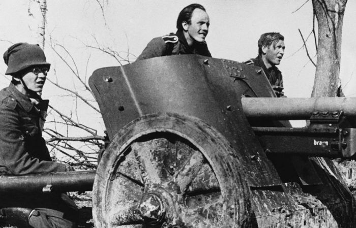 Немецкая противотанковая пушка, 1942 год.