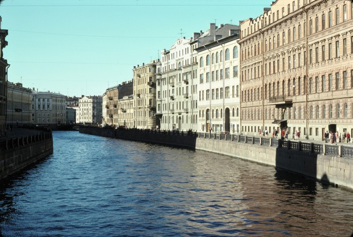 Водоток протока невской дельты. СССР, Ленинград, 1975 год.