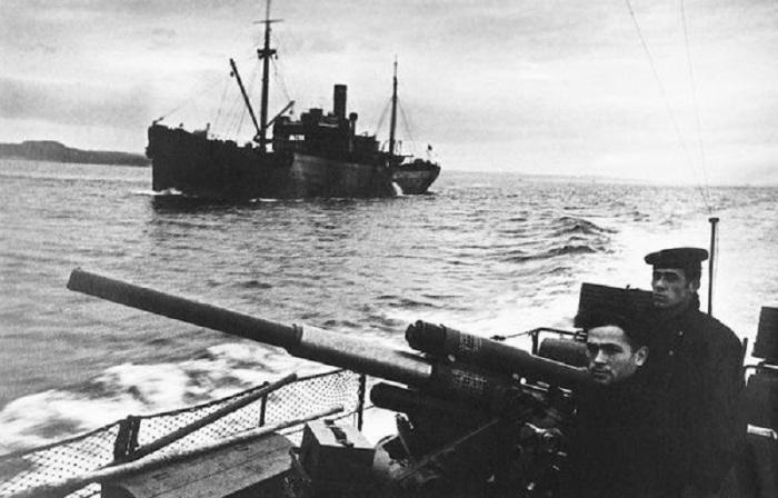 Матросы Северного оперативно-стратегического объединения ВМФ СССР.
