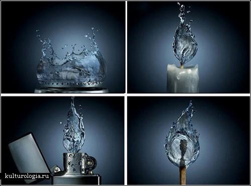 Креатив из воды