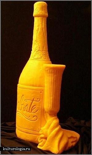 Скульптуры из сыра чеддер от Сары Кауфманн (Sarah Kaufmann)