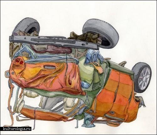 «Аварии» - серия картин Скотта Теплина (Scott Teplin)