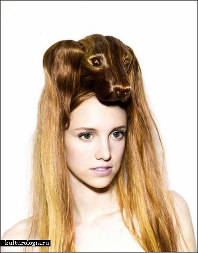 Шляпки-парики в виде животных от  Наги Нода (Nagi Noda)