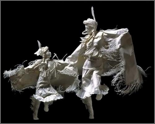 Бумажные скульптуры от Аллена и Пэтти Экман (Allen and Patty Eckman)