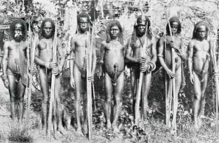 Мужчины племени Дем-стам из долины Ноголо.