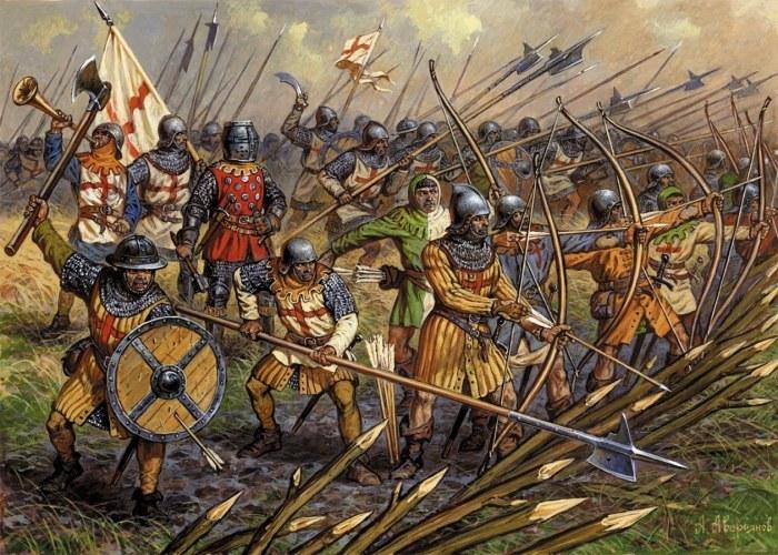 Английские солдаты периода Столетней войны. | Фото: youtube.com.