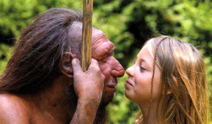 Неандерталец и самка вида «человек разумный». | Фото: io9.gizmodo.com.