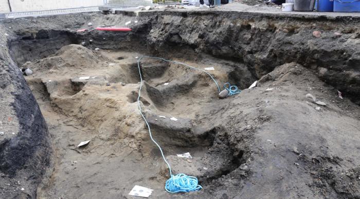 Место раскопок корабля викингов в Тронхейме. | Фото: rt.com.
