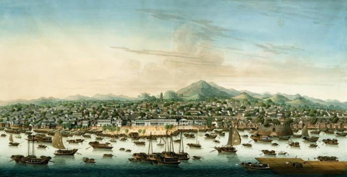 Вид на китайский город Кантон в 1800 году, где жила Чжэн Ши. | Фото: atlasobscura.com.