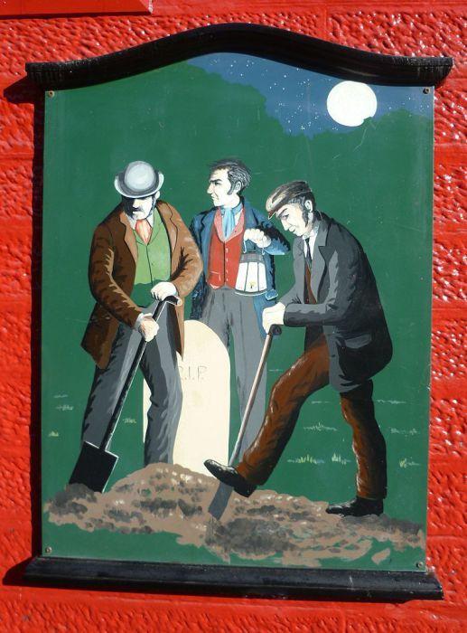 Грабители могил в Шотландии. Трупы крались из могил и продавались для лекций по анатомии. | Фото: atlasobscura.com.