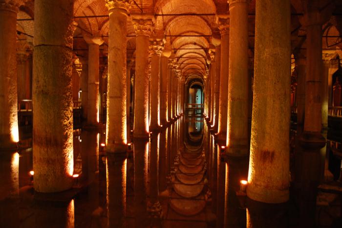 Римские цистерны в Стамбуле.