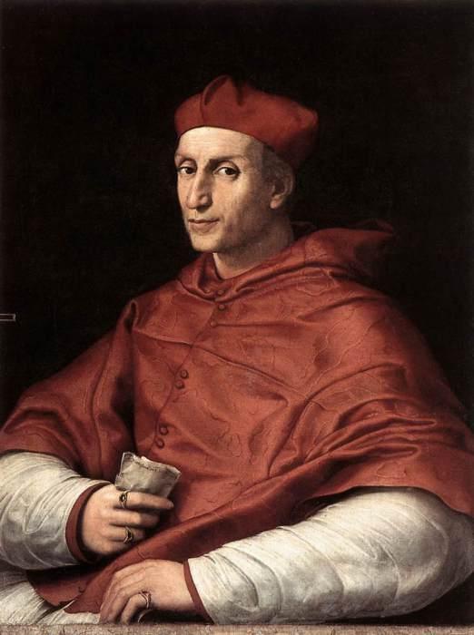 Портрет кардинала Биббиена кисти Рафаэля.