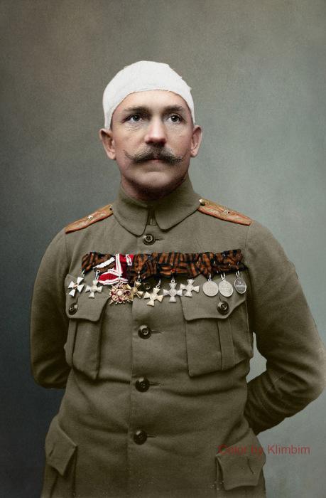 Полный Георгиевский кавалер прапорщик Карл Иванович Вашатко, 1917 год. | Фото: flickr.com.