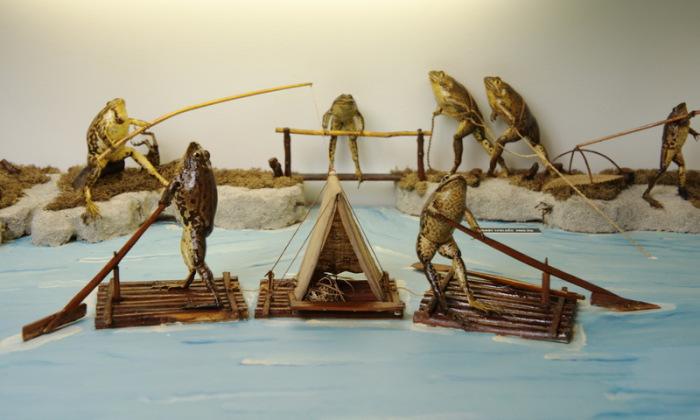 Живописный лагерь Froggyland. | Фото: atlasobscura.com.