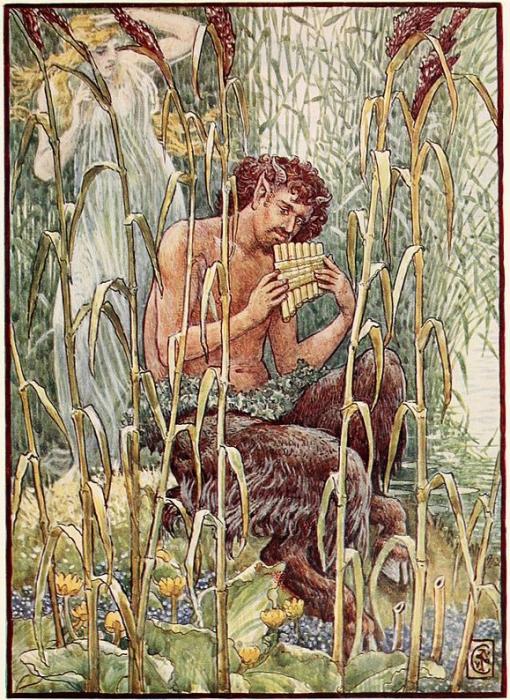 Бог Пан, часто изображаемый с козлиной бородкой. | Фото: atlasobscura.com.
