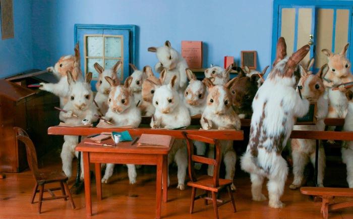 «Кроличья школа» Уолтера Поттера. | Фото: civilwartalk.com.