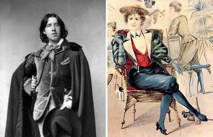 Скандальный писатель и поэт Оскар Уайльд, который повлиял на женскую моду викторианской эпохи.