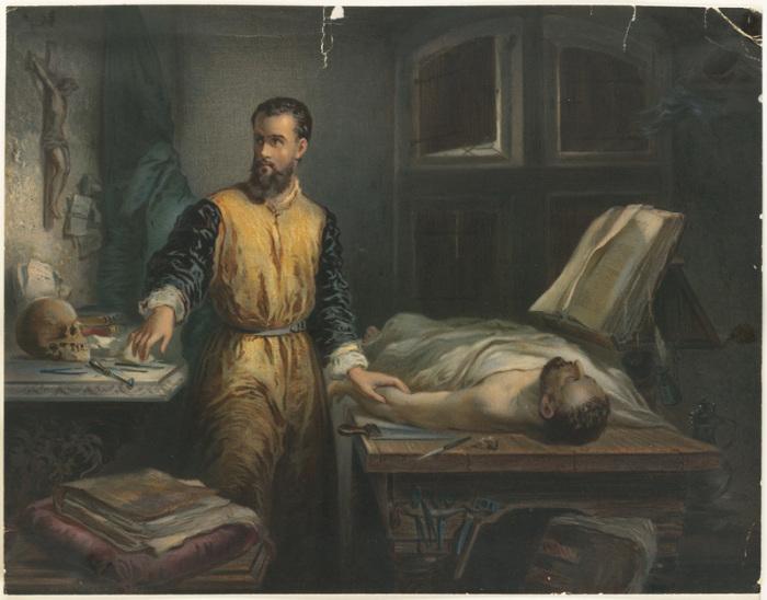 Анатом 16-го века Андреас Везалий. | Фото: atlasobscura.com.
