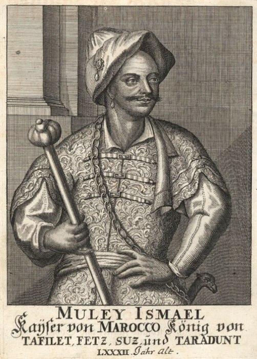 Портрет султана Мулай Исмаила ибн Шериф на немецкой гравюре XVIII века. | Фото: ru.wikipedia.org.