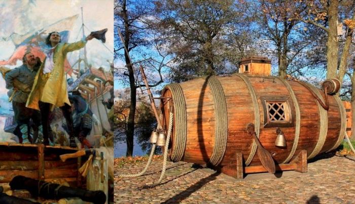 «Потаенное судно» - изобретение русского изобретателя Никонова, появившееся под протекцией Петра I.