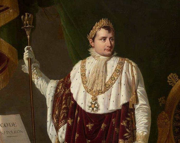 Портрет Наполеона Бонапарта авторства Робера Лефевра.