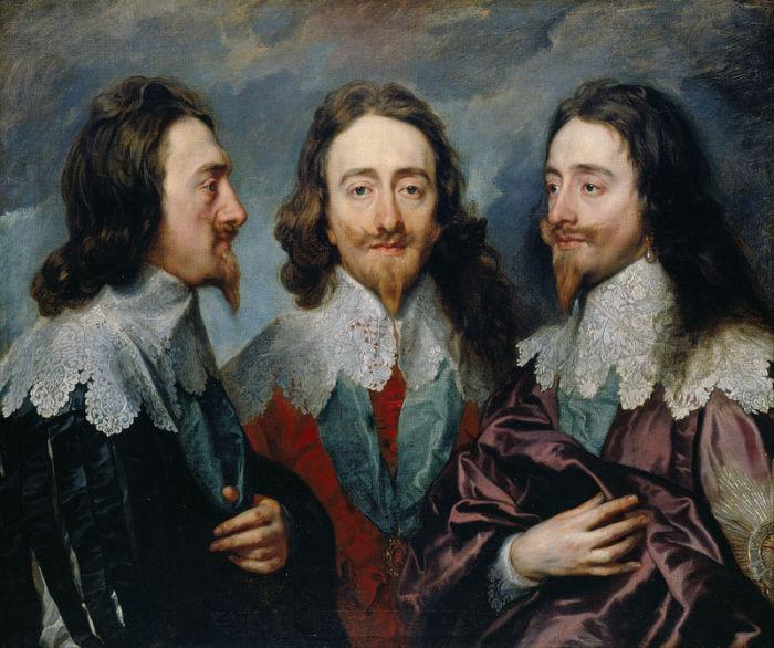 «Тройной портрет Карла I» ван Дейка. | Фото: atlasobscura.com.