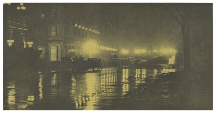 Свечение ночи - Нью-Йорк, 1897 г.   Фото: atlasobscura.com.