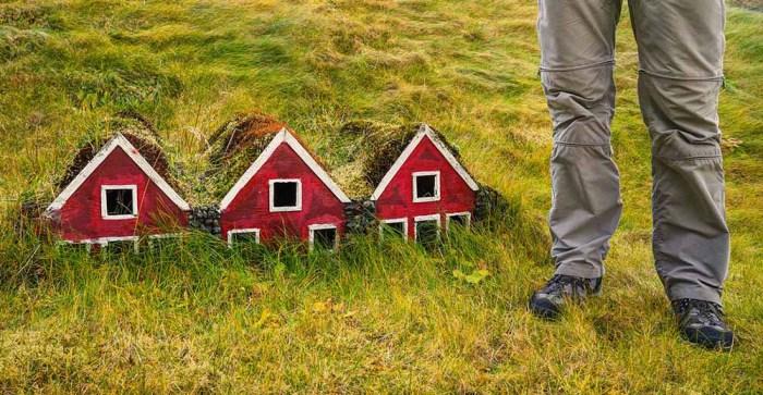 Учебный макет - жилище исландских эльфов. | Фото: roundtheworldwego.com.