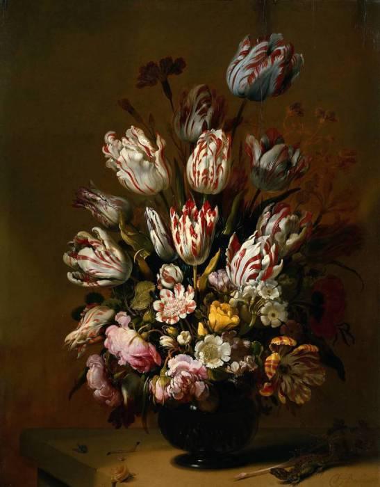Богатый набор пестрых тюльпанов. | Фото: atlasobscura.com.