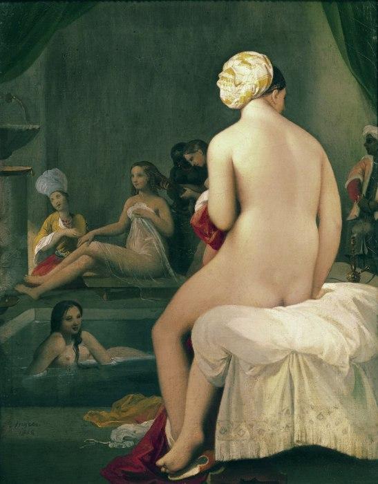 Жан Огюст Доминик Энгр. Купальщицы в гареме, 1828 год.   Фото: philologist.livejournal.com.