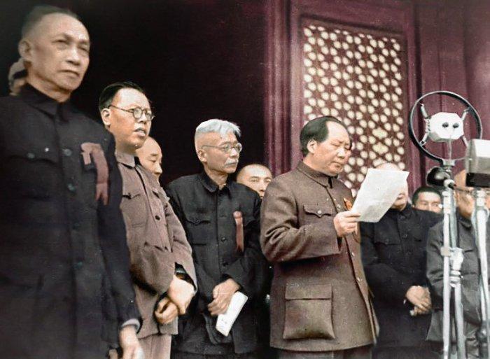 Мао Цзэдун провозглашает основание Китайской Народной Республики, 1 октября 1949 года. | Фото: en.wikipedia.org.