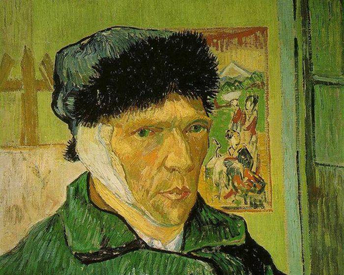 Фрагмент картины «Автопортрет с отрезанным ухом» Винсента Ван Гога, 1889 г.