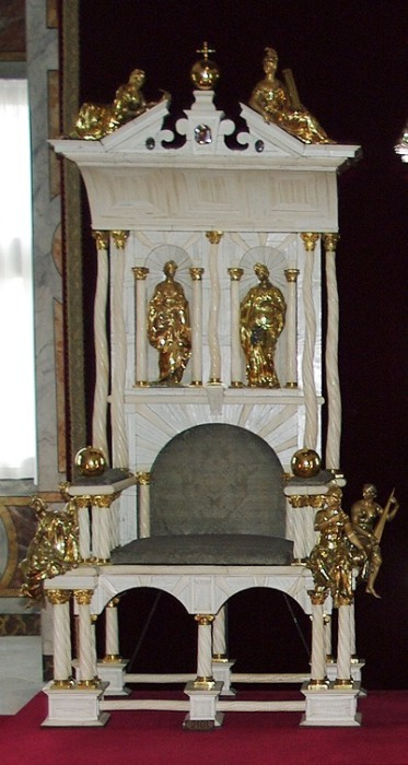 Коронационное кресло датских монархов использовалось с 1671 по 1840 г. | Фото: en.wikipedia.org.