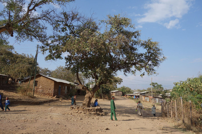 Центр деревни Аура Амба. | Фото: atlasobscura.com.