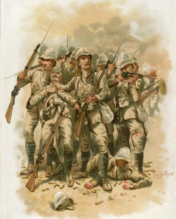 Солдаты 66-й беркширского полка сражаются при Майванде, 27 июля 1880 года. | Фото: britishbattles.com.
