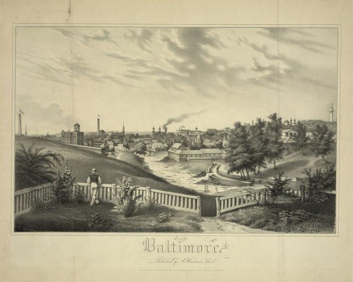 Балтимор в 1837 году. | Фото: loc.gov.