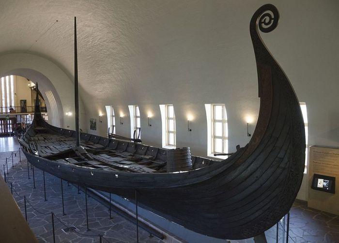 Осебергская ладья викингов, IX век н.э. | Фото: ru.wikipedia.org.